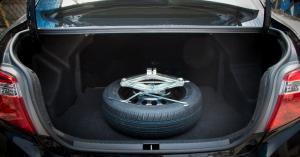 Spare tire in trumk