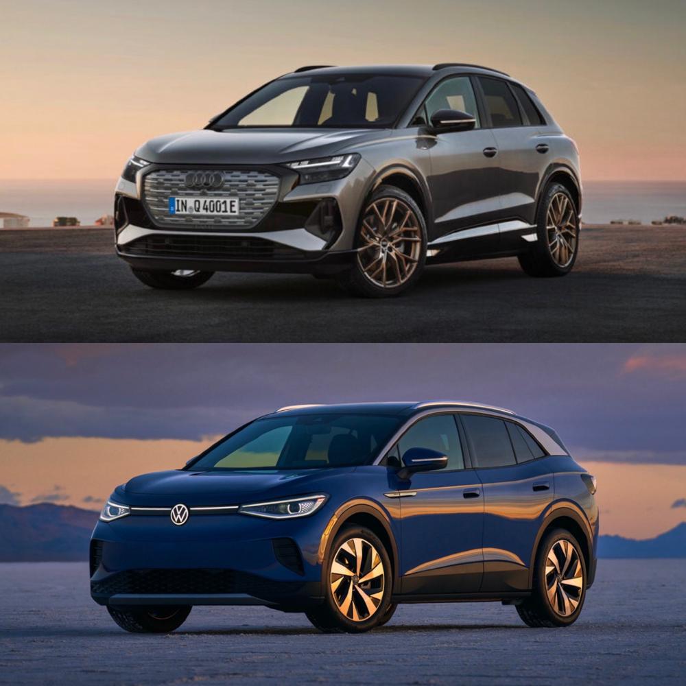 A Close Comparison of the Volkswagen ID.4 and the Audi Q4 e-tron